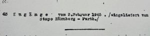 Gestapo Nurnberg-Furth