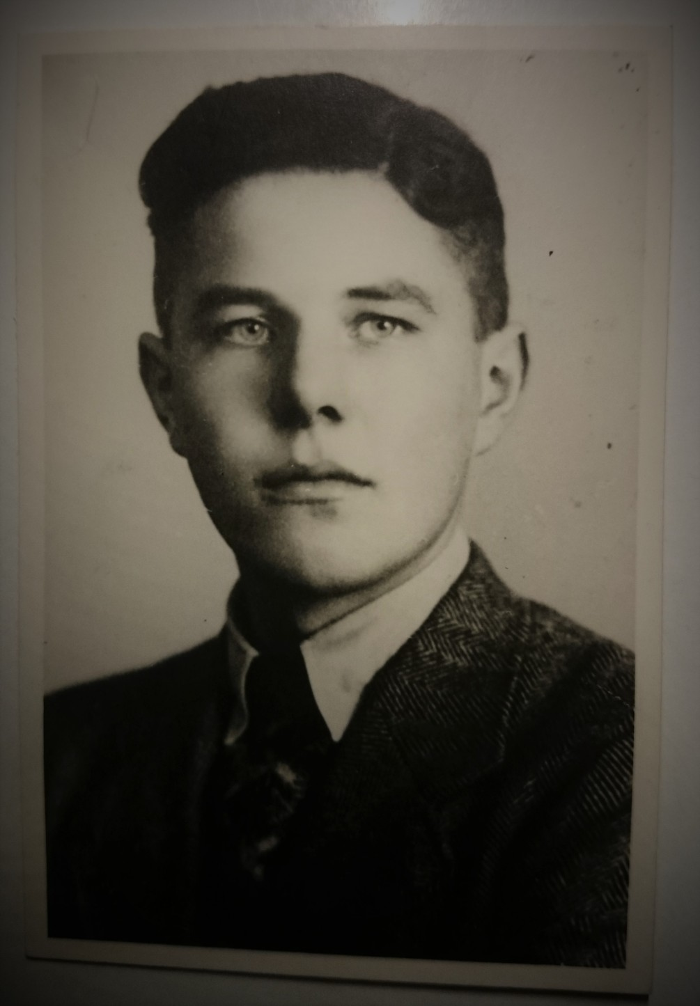 Jan van Boeckel 1943, just before he left on his journey from Holland to Bavaria. From which he never returned