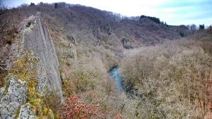 The Herou rock at Nadrin with view over the Ourthe river