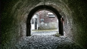 Tunnel at Enclos des Fusillés - enclosure of those shot by firing squad, Liège