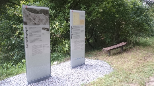 New information panels places at the subcamp Saal location in 2016